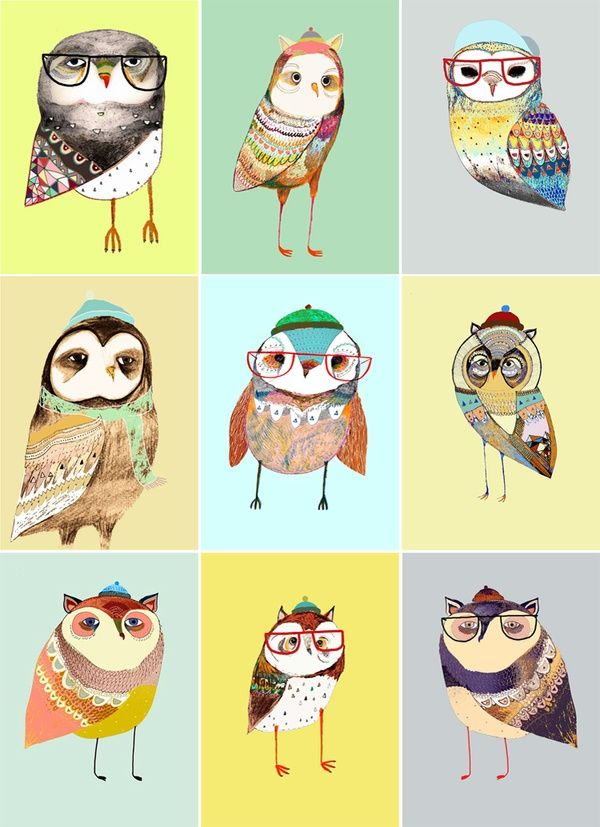 Birds with glasses :)