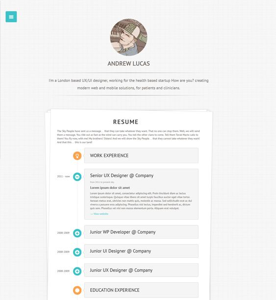 16 best 16 more of the best vcard  cv   u0026 resume wordpress themes images on pinterest