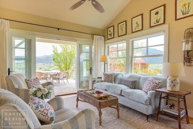 Davies Design Group - Aspen Farmhouse Living Room