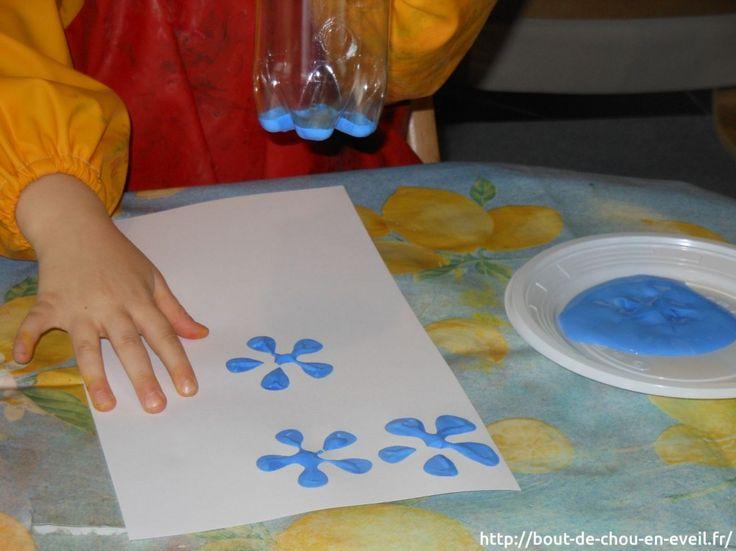 Activité peinture : empreintes fleuries   Bout de chou en éveil