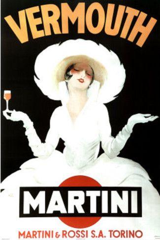 Marcello Dudovich Vermouth Martini and Rossi Art Print Poster Poster