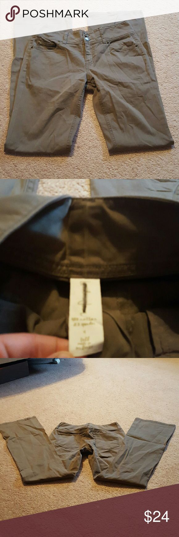 London Jeans Olive Pants Size 4 Tall Like New London Jeans Olive Pants Size 4 Tall Like New London Jean Jeans