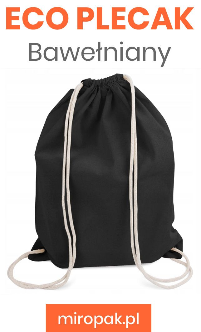 Plecak Bawelniany Worek Ecru 140g M2 Czarny 7779225882 Oficjalne Archiwum Allegro Backpacks Drawstring Backpack Bags