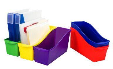 Storex Interlocking Book Bins, Assorted Colors, Set of 5 - CLASSROOM DIRECT