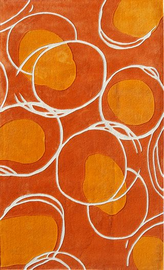 Ecconox 72412 Lysander Orange Rug from the Modern Rug Masters 1 collection at Modern Area Rugs