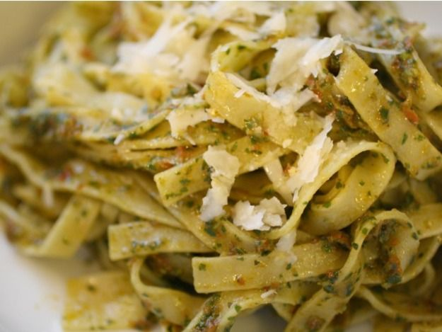 Fresh tagliatelle gets tossed with a Provençal pistou full of garlic ...