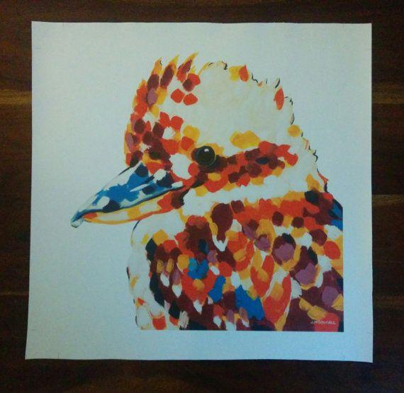 Kooky on Canvas 51cm x 51cm by ArtByJackieM on Etsy