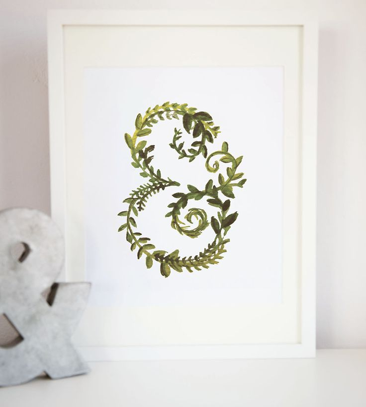 Spring Green Leafy Ampersand Art Print by Lina Lulu on Scoutmob Shoppe