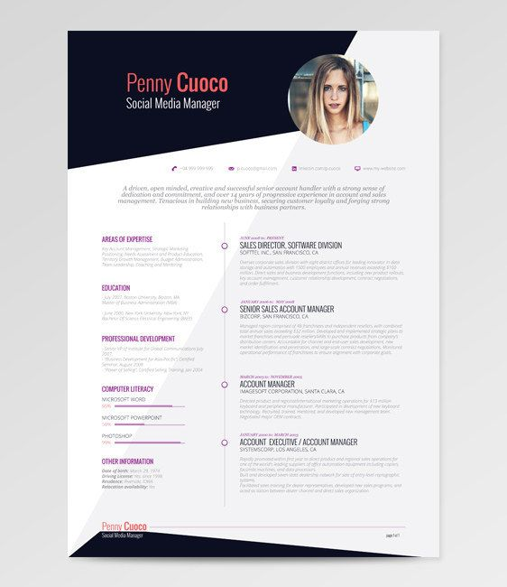 Using a picture of yourself on your résumé used to be seen as something you should never do…not anymore. | 21 Free Résumé Designs Every Job Hunter Needs