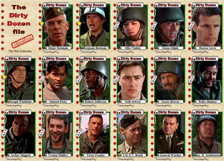 39 Best Images About THE DIRTY DOZEN On Pinterest