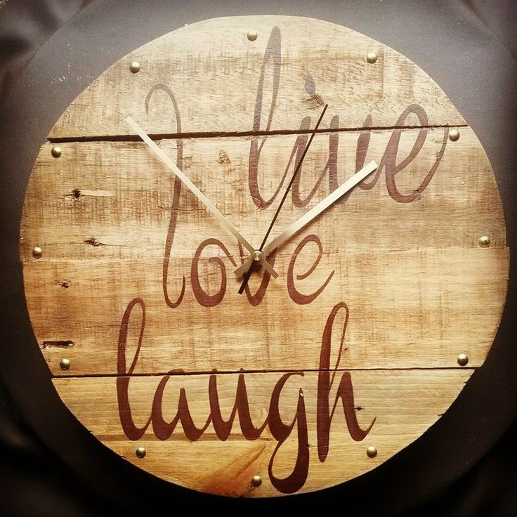 Live LOVE laugh Clock