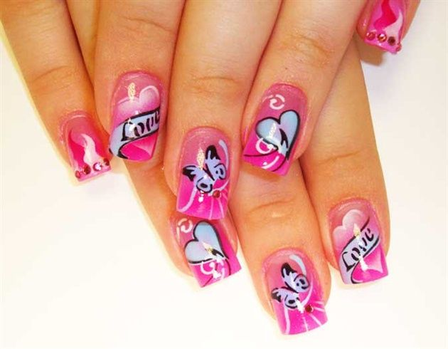 22 best butterfly nails images on Pinterest | Butterfly nail art ...