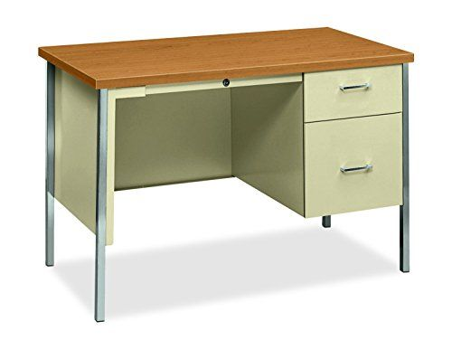 HON 34000 Series Small Office Desk \u2013 Right Pedestal Desk with File
