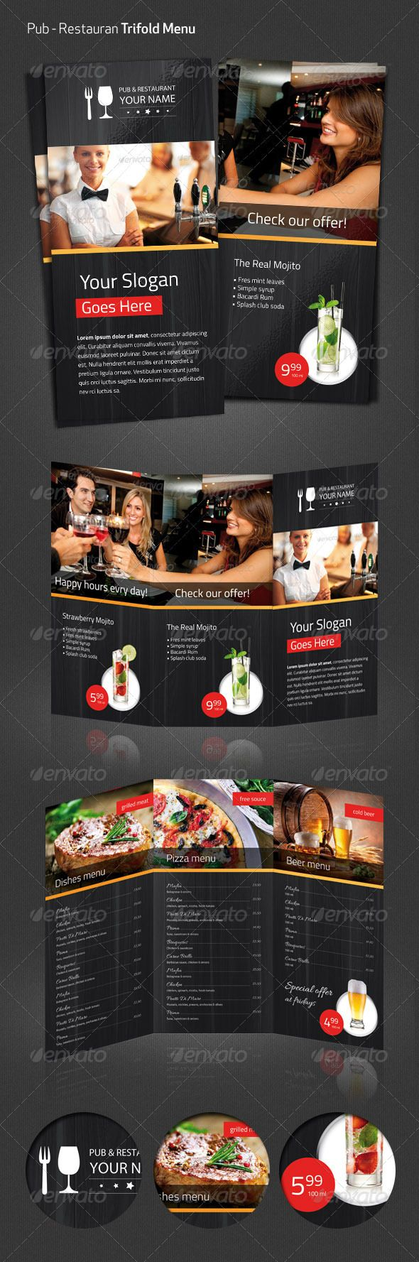 Realistic Graphic DOWNLOAD (.ai, .psd) :: http://realistic-graphics.ovh/pinterest-itmid-1005313030i.html ... Pub Restaurant Menu Flyer ...  beer, dinner, dishes, drinks, elegant, exclusive, flyer, food, grill, menu, pizza, pub, restaurant, texture, trifold, wood  ... Realistic Photo Graphic Print Obejct Business Web Elements Illustration Design Templates ... DOWNLOAD :: http://realistic-graphics.ovh/pinterest-itmid-1005313030i.html