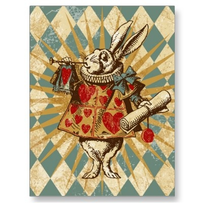 The White Rabbit - vintage postcard
