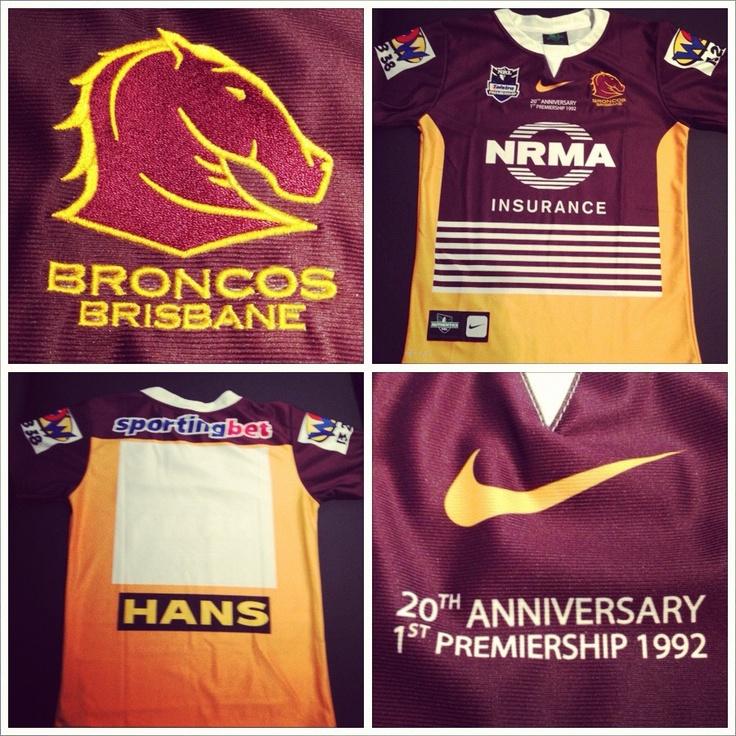 2012 Brisbane Broncos heritage jersey...