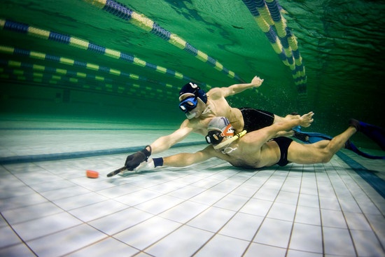 Underwater Hockey  Now this is a sport I would play.
