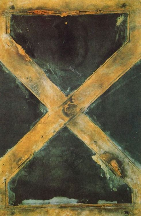 Antoni Tapies, Grande équerre - 1962 One of the artist's that changed my life. Seeing his work in Spain in the early 70s, knocked me out. As I said, changed the direction of my art. Thank you Antoni