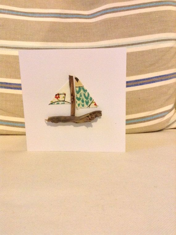 Nautical Driftwood Boat Greeting cards | Birthday card
