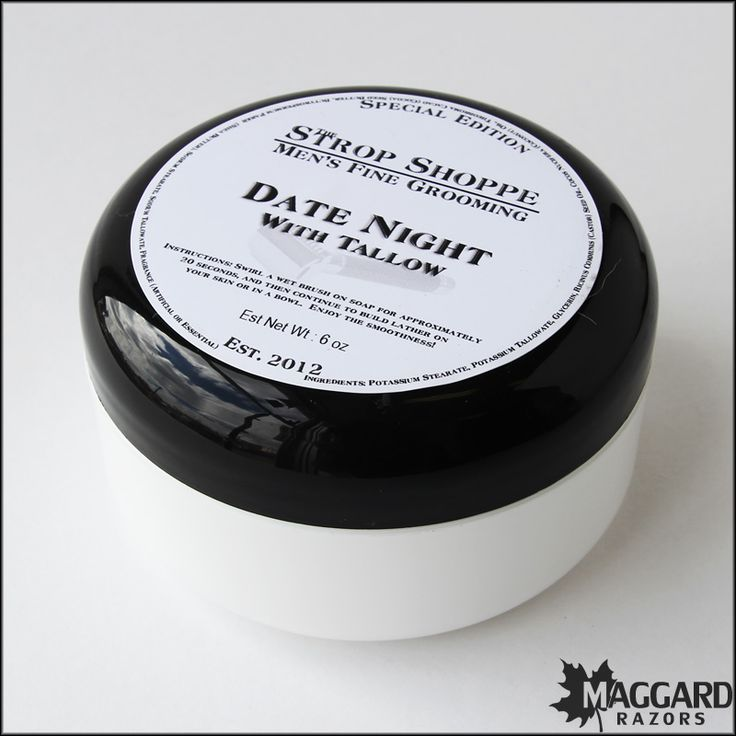 Strop Shoppe Date Night Shaving Soap with Tallow   Maggard Razors - Straight Razor Restoration, Custom Scales and Wet Shaving Products