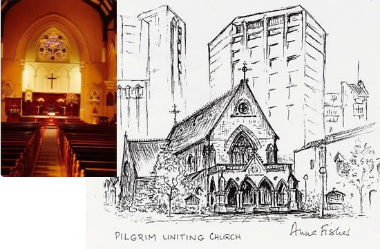 Pilgrim Uniting Church, 12 Flinders Street, ADELAIDE SA 5000, phone (08) 8212 3295, email pilgrim@pilgrim.org.au, website www.pilgrim.org.au.