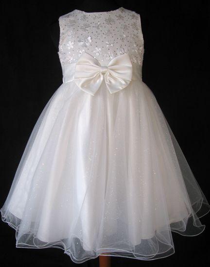 """Φορέματα για Παρανυφάκια - Επίσημα Φορέματα για Κορίτσια :: Παμέμορφο Σατέν Φόρεμα σε Ιβουάρ - Κρέμ για Παρανυφάκι, Πάρτι, βάφτιση """"Fiona"""" - www.memoirs.gr"""