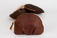 redesignet sminkepung i skinn, brun - Fretex