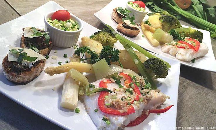 Flétan , Légumes à la Vapeur et Aïoli poivron et fromage blanc.