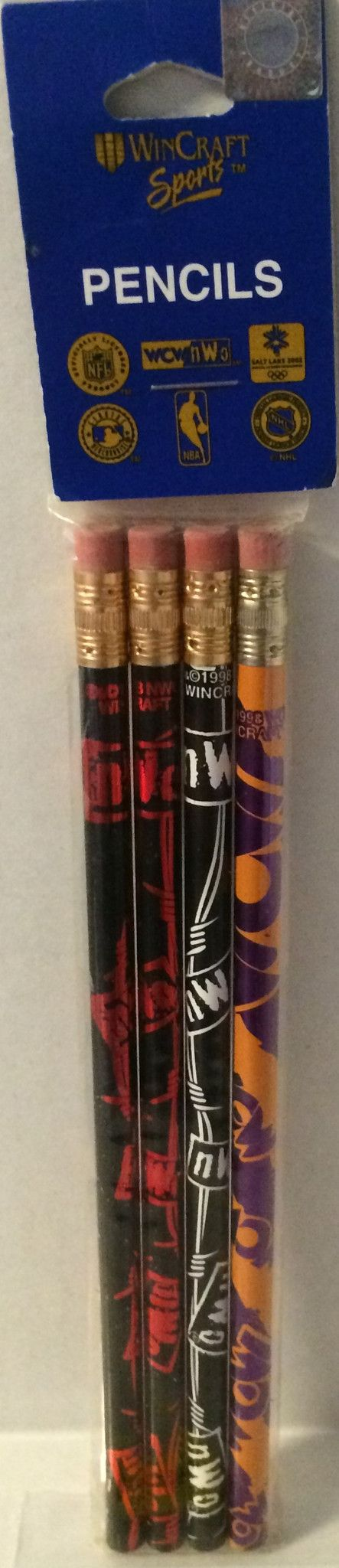 (TAS032096) - Wincraft Sports WCW nWo Wrestling Wooden Pencil 4 Pack