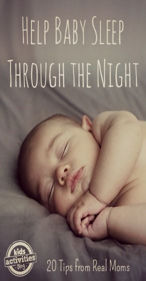 Desperate to help baby sleep through the night, I asked my fellow mom bloggers for tips. Below is a list of twenty awesome tips from real moms.