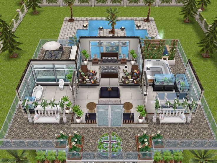 House 34 level 3 sims simsfreeplay simshousedesign my for Sims house layouts