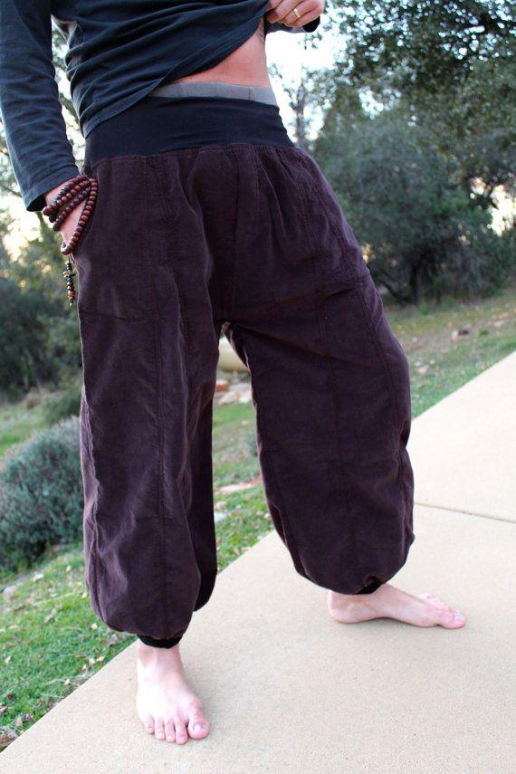 Harem Yoga Pants - Cool Men Pants - Unisex Pants. $69.00, via Etsy.