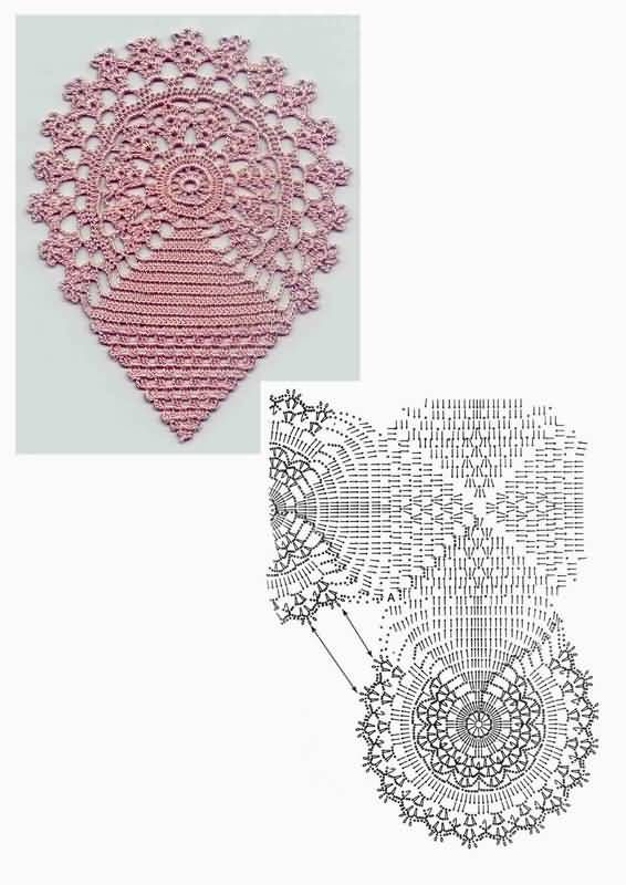 Openwork Fileth?keln Tischdecke - filet crochet doily Dantel 2 ...