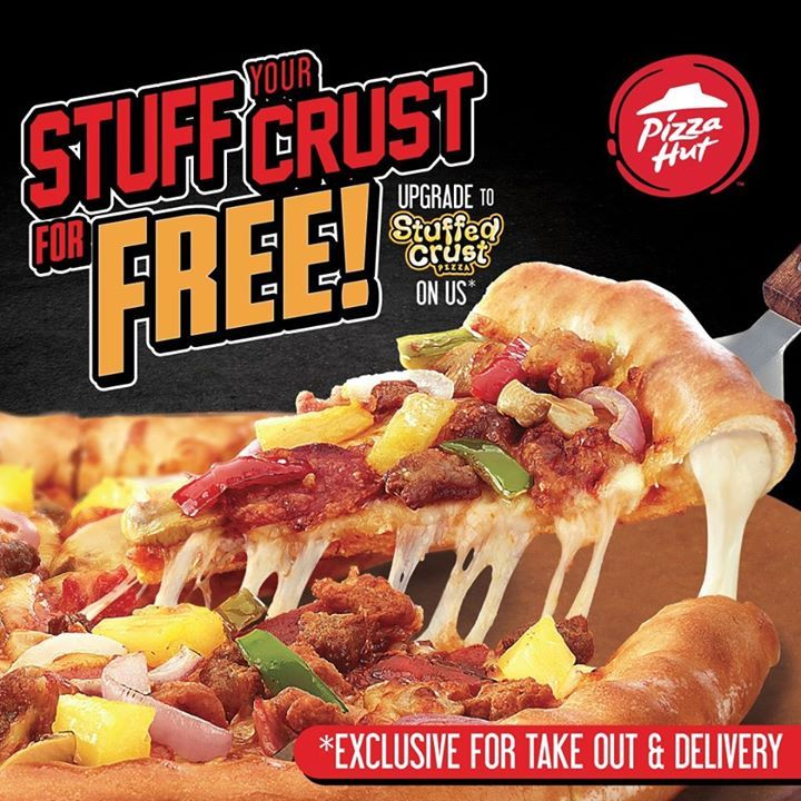 Pizza Hut Cheese Stuffed Crust Pizza Upgrade For Free In 2020 Cheese Crust Pizza Pizza Hut Cheese Pizza Hut