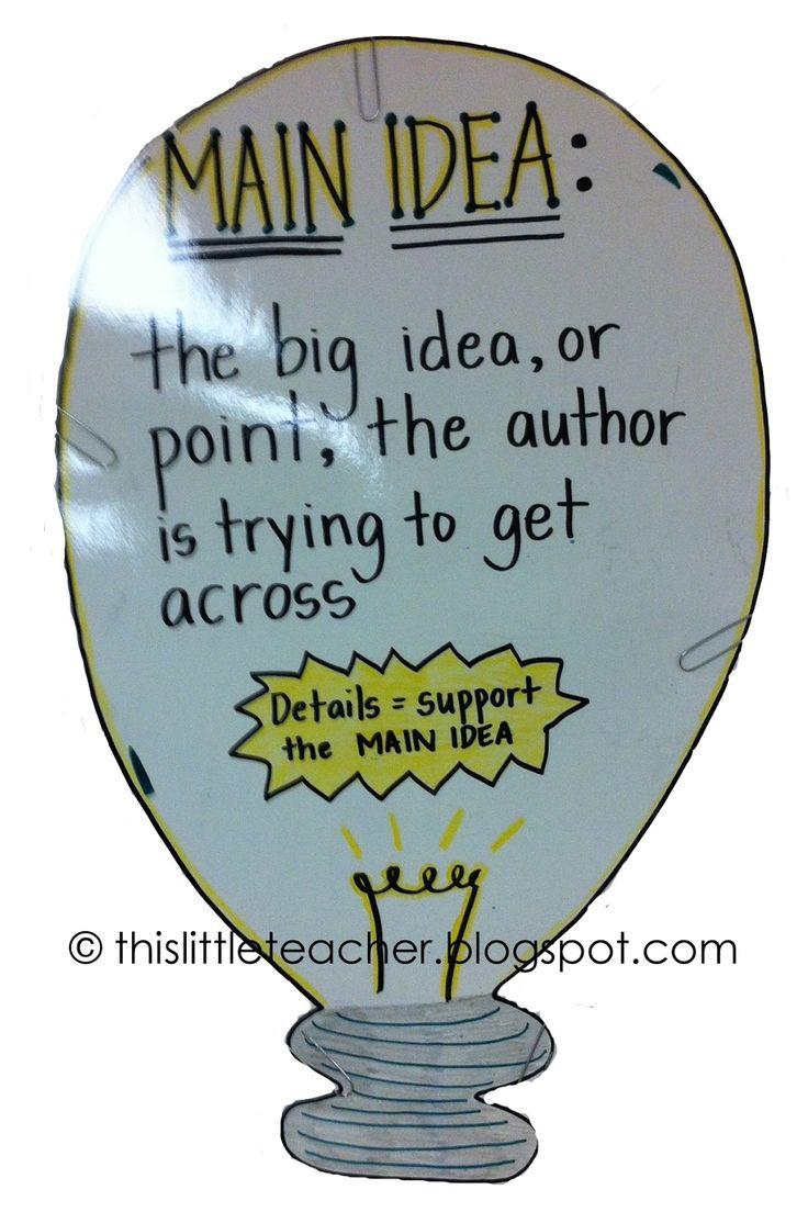 108 best Main Idea images on Pinterest | Language, School and ...