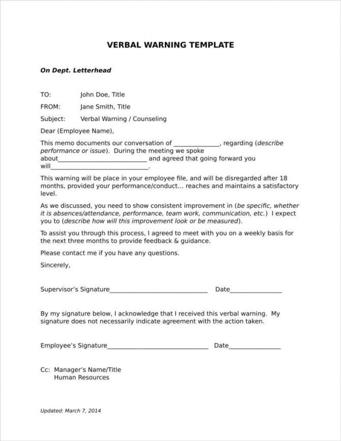 Final Warning Letter For Lateness In 2020 Letter Templates Free