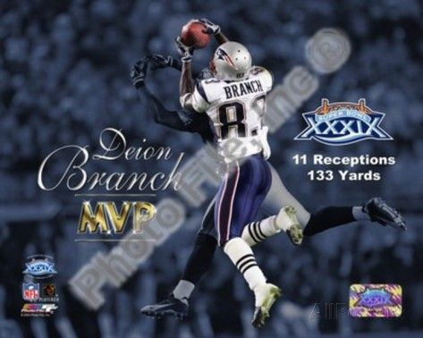 Deion Branch (Super Bowl XXXIX) #39  Super Bowl result: New England Patriots 24, Philadelphia Eagles 21 Key stats: 11 catches on 12 targets, 133 receiving yards  MVP points: 13.3  Branch tied the Super Bowl record with 11 receptions, including one spectacular grab snatched from the hands of cornerback Sheldon Brown to set up a field goal that put the Patriots up by 10 in the fourth quarter. He's the highest-ranked offensive player on this list without a touchdown, and one of three to claim…