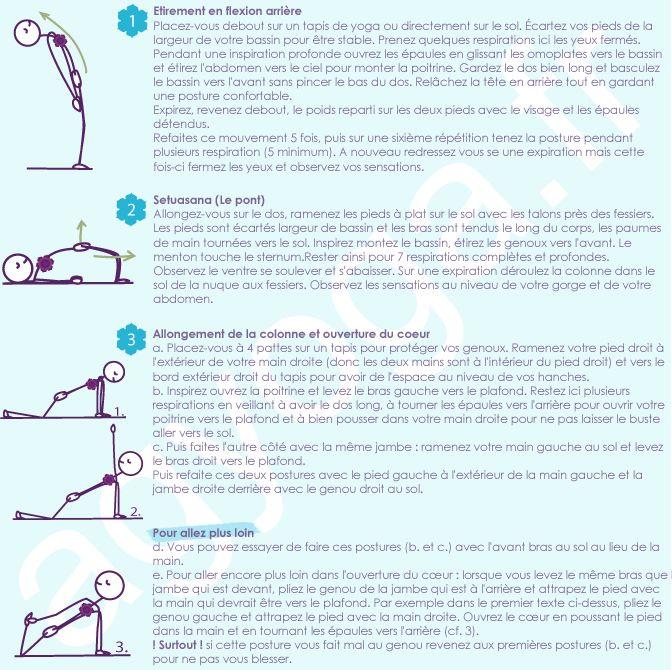 Fiche 15 - Yoga - Ouverture du coeur