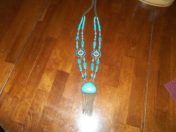 28 Turquoise double strand Set