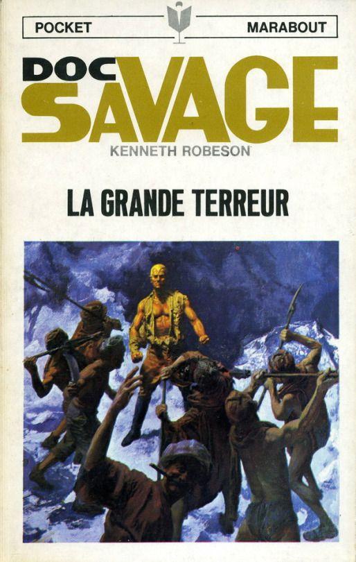 Doc Savage: La Grande Terreur (Meteor Menace), Pocket Marabout 15, cover by Jim Bama