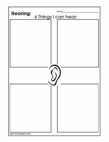 sense of hearing activities | Sense of Hearing Worksheets