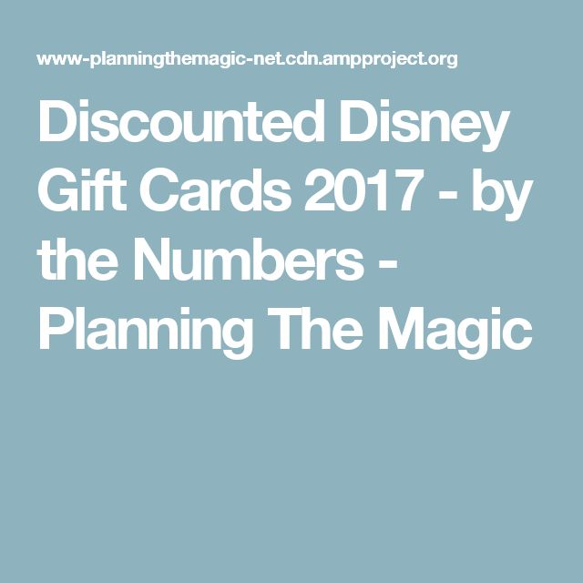 Best 25+ Discount disney gift cards ideas on Pinterest   Disney ...