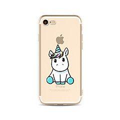 Case+Kompatibilitás+Apple+iPhone+X+iPhone+8+Plus+iPhone+7+iPhone+6+iPhone+5+tok+Áttetsző+Minta+Hátlap+Egyszarvú+Puha+TPU+mert+iPhone+X+–+EUR+€+4.44