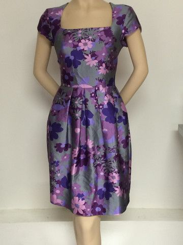The Dahlia in Purple Gray Floral