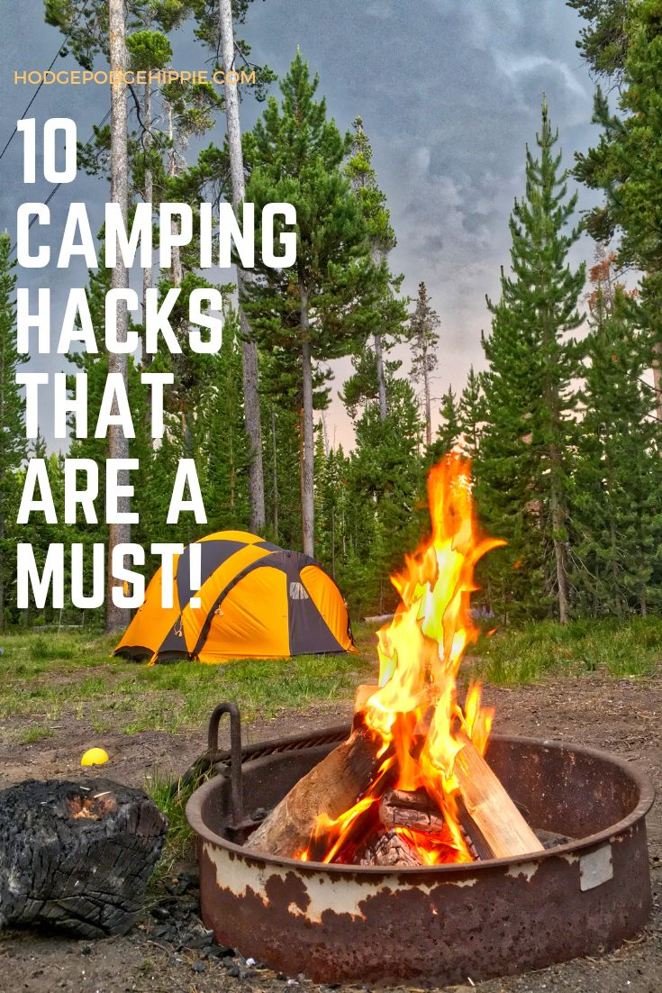 10 Camping Hacks that are a MUST!   Easy camping hacks ...