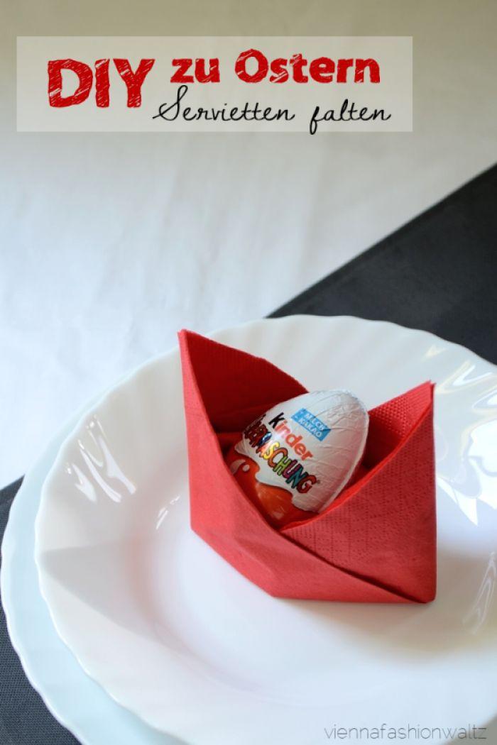 tischdeko zu ostern mit serviettenfalttechnik noch mehr ideen gibt es auf. Black Bedroom Furniture Sets. Home Design Ideas
