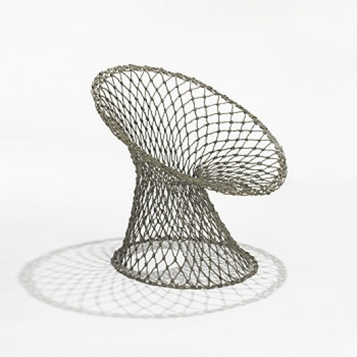 MARCEL WANDERS rare Knotted chair Droog Design Netherlands, c. 1995 carbon and epoxy-coated aramid fibers 32 w x 28 d x 30 h inches