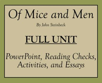 Of Mice and Men Dialectical Journal