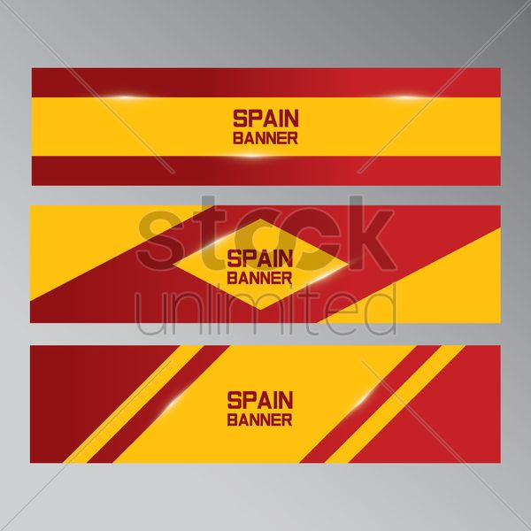 collection of spain banners Stock Vector