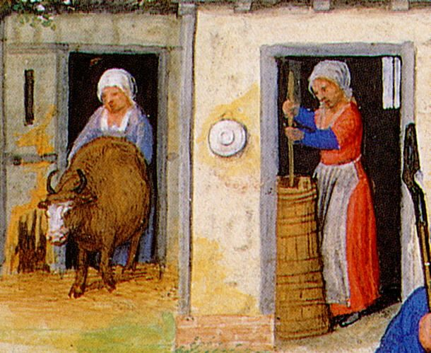 Medieval Life,il burro: Making Butter